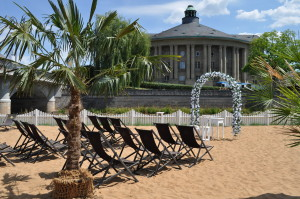 Strandkulisse mit Regentenbau
